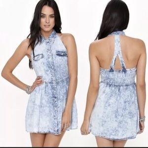 WHOLE STORE HALF OFF MY PRICE Chambray Apron Dress